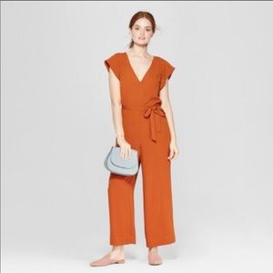 A New Day Jumpsuit cap sleeve v-neck